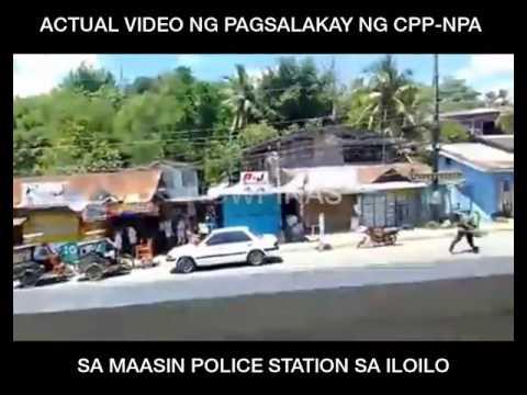 Actual na video ng pag atake ng mga NPA sa Maasin Iloilo Police Station