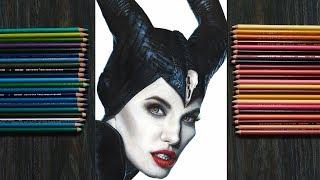 Drawing Maleficent-Angelina Jolie