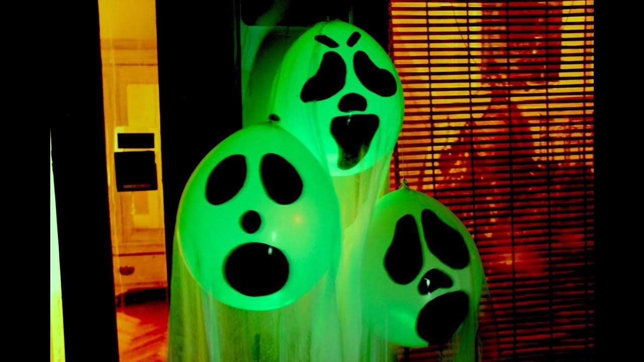 DIY Halloween Ghost Glow Balloons  Yard Decorations Indoor Halloween Decorations 2017  YouTube