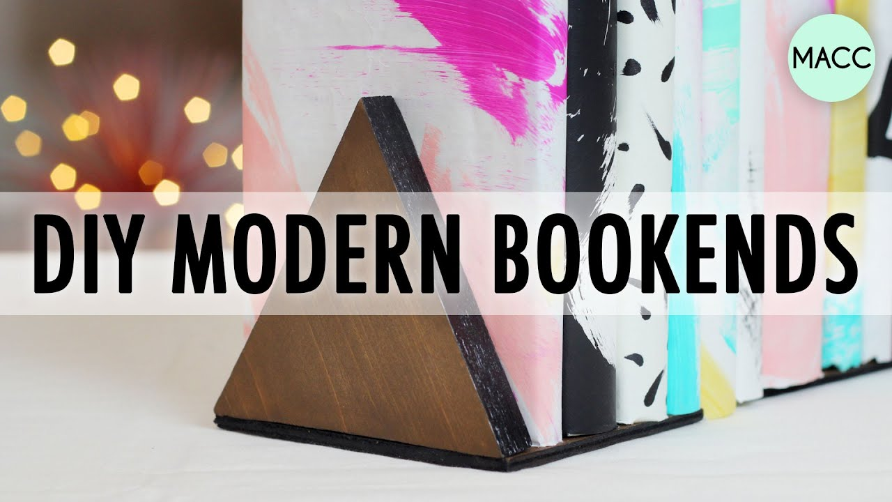 diy modern bookends  youtube -