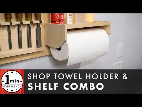 Shop Towel Holder with Built In Shelf