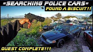 Searching Police Cars Found A Biscuit!! | Crown Rick Auto