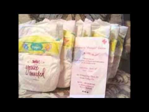 diaper baby shower invitations YouTube