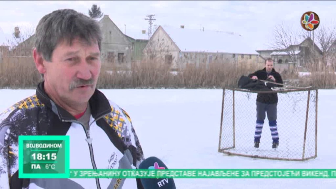 Ruski Krstur Hokej Na Ledu Ribnjaku
