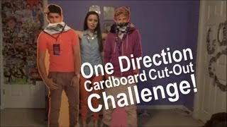ONE DIRECTION CARDBOARD CUTOUT CHALLENGE!!