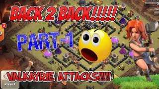 Back 2 back Valkayrie attacks | clash of clans | BACK 2 BACK SERIES | GaminG WitH RoY |
