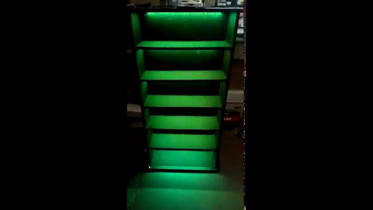 shelf for disney infinity collection rgb led strip test o youtube. Black Bedroom Furniture Sets. Home Design Ideas