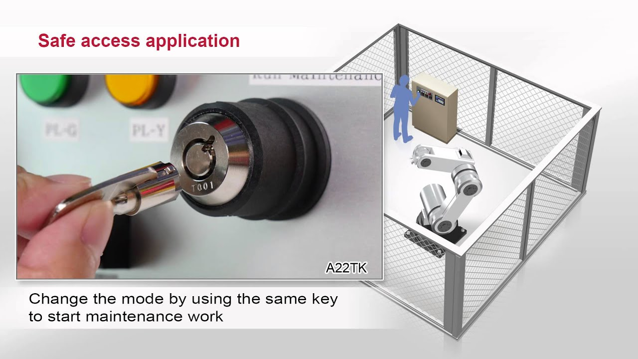 Omron D4SL-N Guard Lock Safety-door Switch Application & Omron D4SL-N Guard Lock Safety-door Switch Application - YouTube