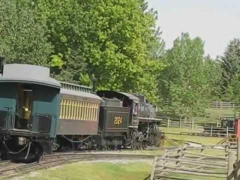 Calgary's Heritage Park Steam Train