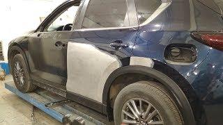 Mazda CX-5 фура облизнула.