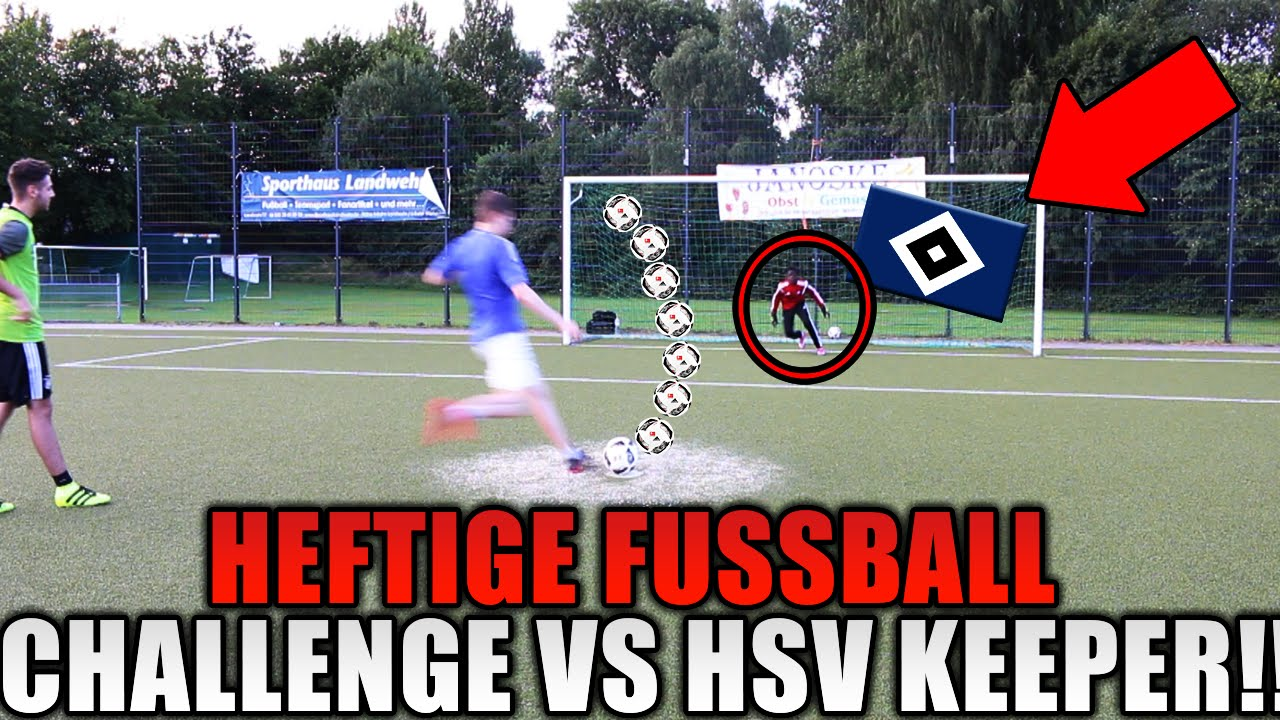 heftige fußball challenge gegen hsv keeper  realfifa vs