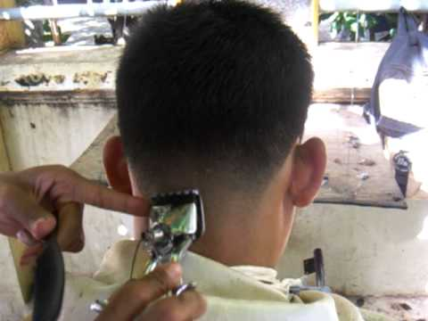 YOUNG MAN MILITARY HAIRCUT 1 - YouTube