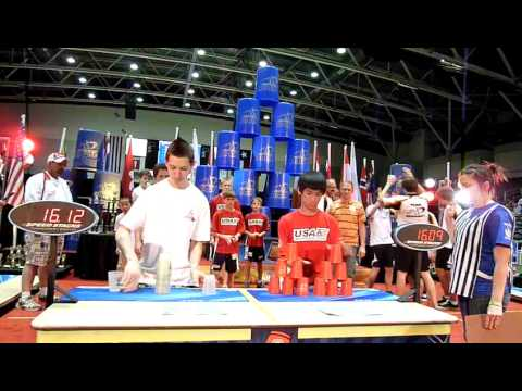 2011 World Sport Stacking Championships Team Canada vs Team  USA  H-T-H cycle set 1.MOV