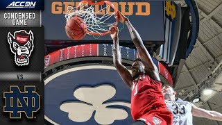 NC State vs. Notre Dame Condensed Game | 2018-19 ACC Basketball