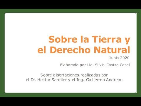 TIERRA LIBRE Y DERECHO NATURAL *  CHARLA ABIERTA DE SILVIA CASTRO CASAL * 03/09/20 *