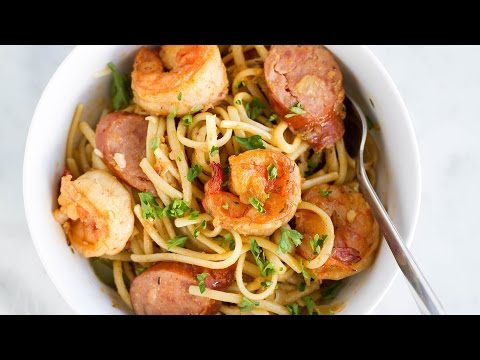 One-Pot Cajun Shrimp Sausage Pasta
