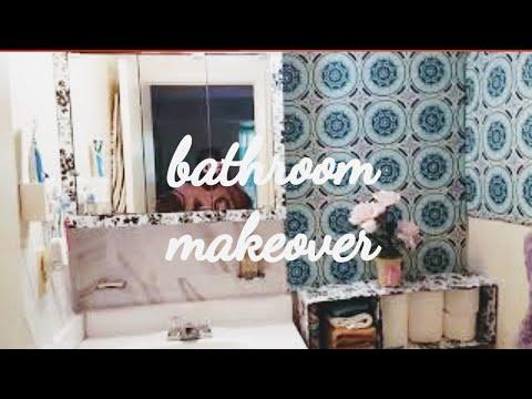 diy-bathroom-makeover//-in-4-easy-ways//-rental-improvements-diy//dollar-tree