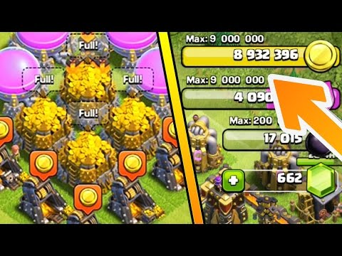 FULL GOLD STORAGES in Clash of Clans! SPENDING SO MUCH LOOT!!