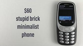 Minimalist NOKIA 3310 3G Review