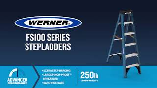 Werner Ladder - FS100 Series Fiberglass Step Ladders