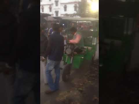 Electronic rickshaw strick by union
