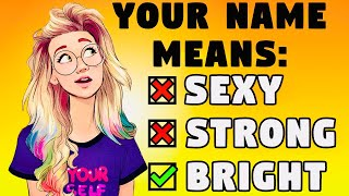 What Does Your Nąme SECRETLY Mean? 🤯 Personality Test | Mister Test