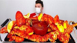 Bloves Sauce with King Crab Legs • MUKBANG
