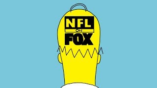 The Simpsons - Homer & Bart Visiting NFL on FOX (1995)