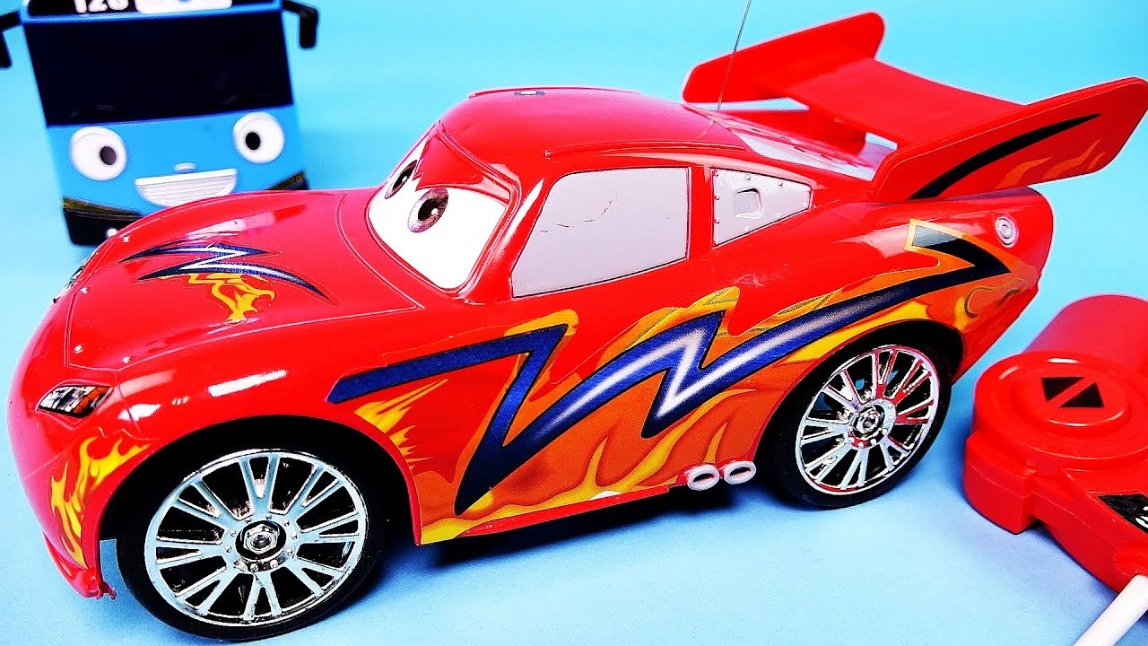 Cars disney pixar cars lightning mcqueen rc poli youtube - Radio car poli ...