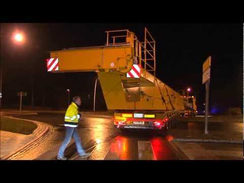 Transport of two crane runways from Germany to Sweden