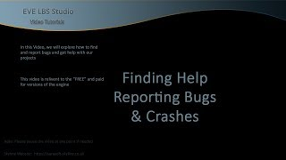 Skyline Game Engine - Finding help and reporting bugs