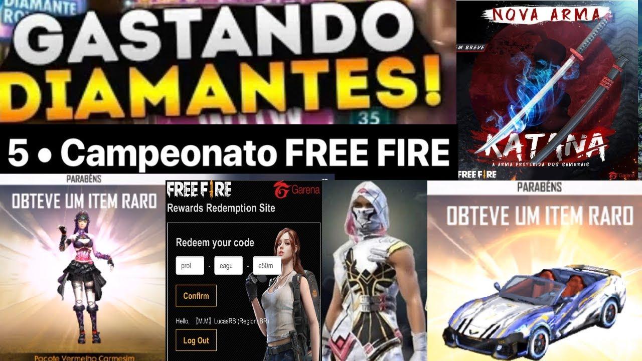 bbe0196fa15f Gastando 10.000 Diamantes no Free Fire - Novo Código Recompensas ...