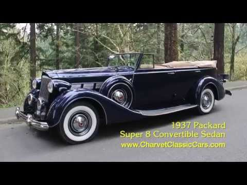 Test Drive: 1937 Packard Super 8 Convertible Sedan. Charvet Classic Cars