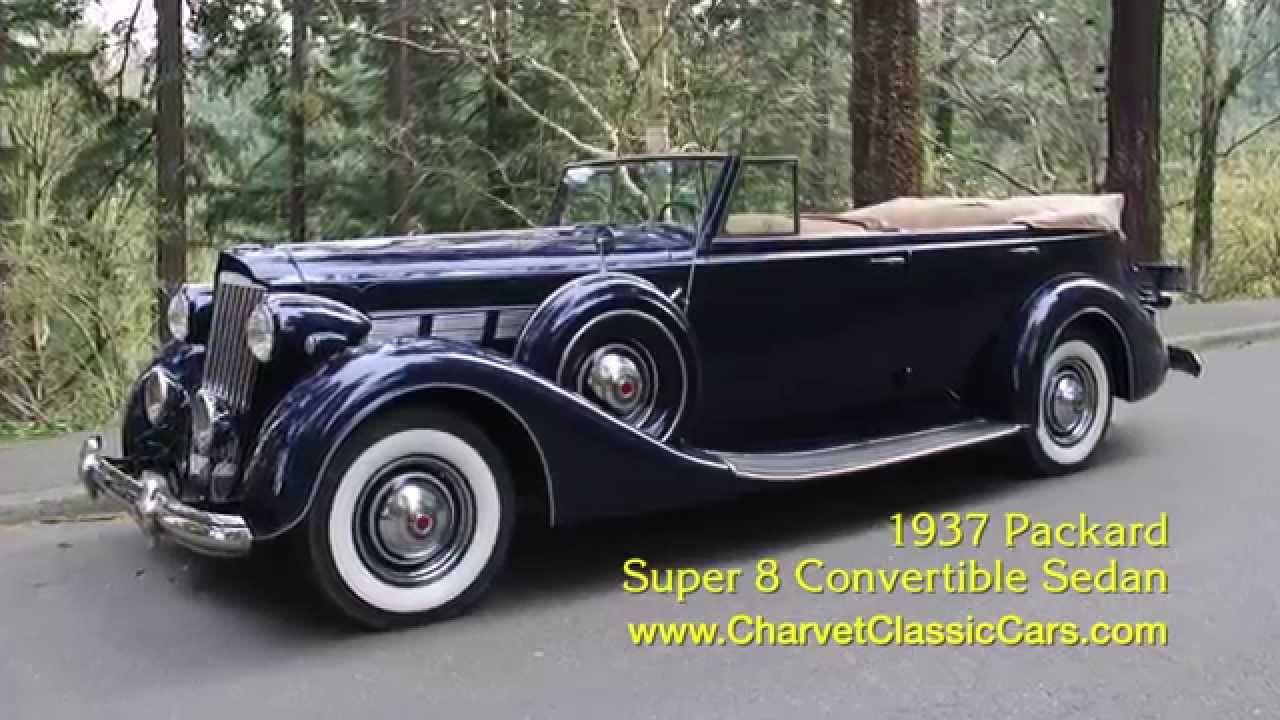 Test Drive 1937 Packard Super 8 Convertible Sedan