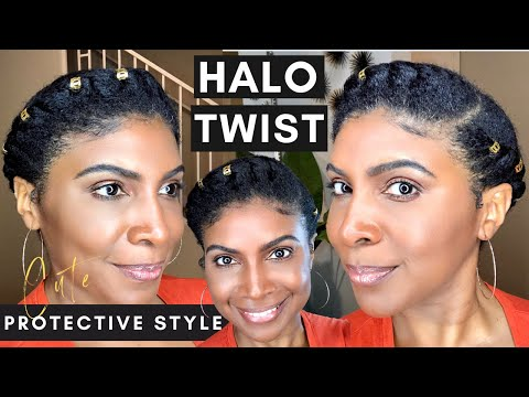 protective-hairstyles-for-natural-hair- -no-weave-halo-flat-twist