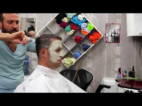 TURKISH ASMR BARBER | FACE MASK | WET SHAVE | HEAD MASSAGE 2 (NO TALKİNG)