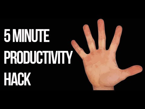 5 Minute Life Hack To 3x Your Productivity