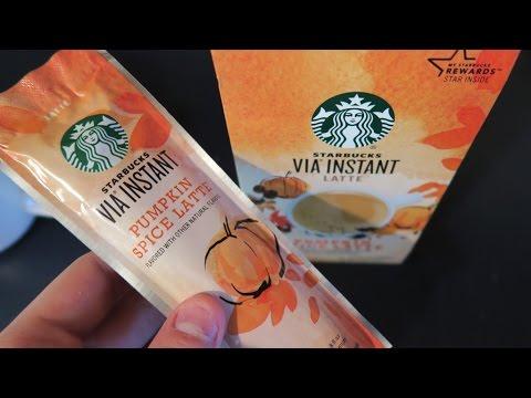 Starbucks Via Ready Brew Pumpkin Spice Latte Single Serve Packets Review