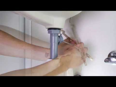 Installing a 1-Handled Bathroom Faucet with a Pop-Up Drain - Parisa Collection
