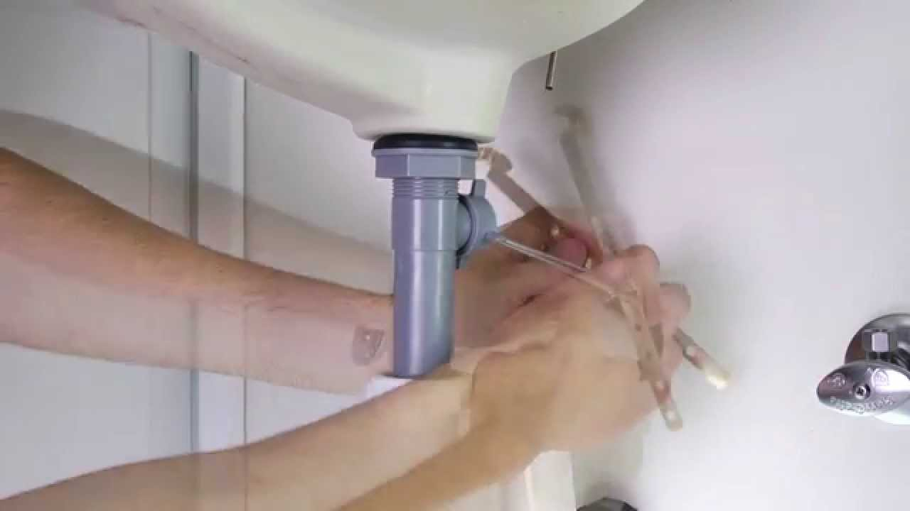 installing a 1 handled bathroom faucet with a pop up drain parisa collection