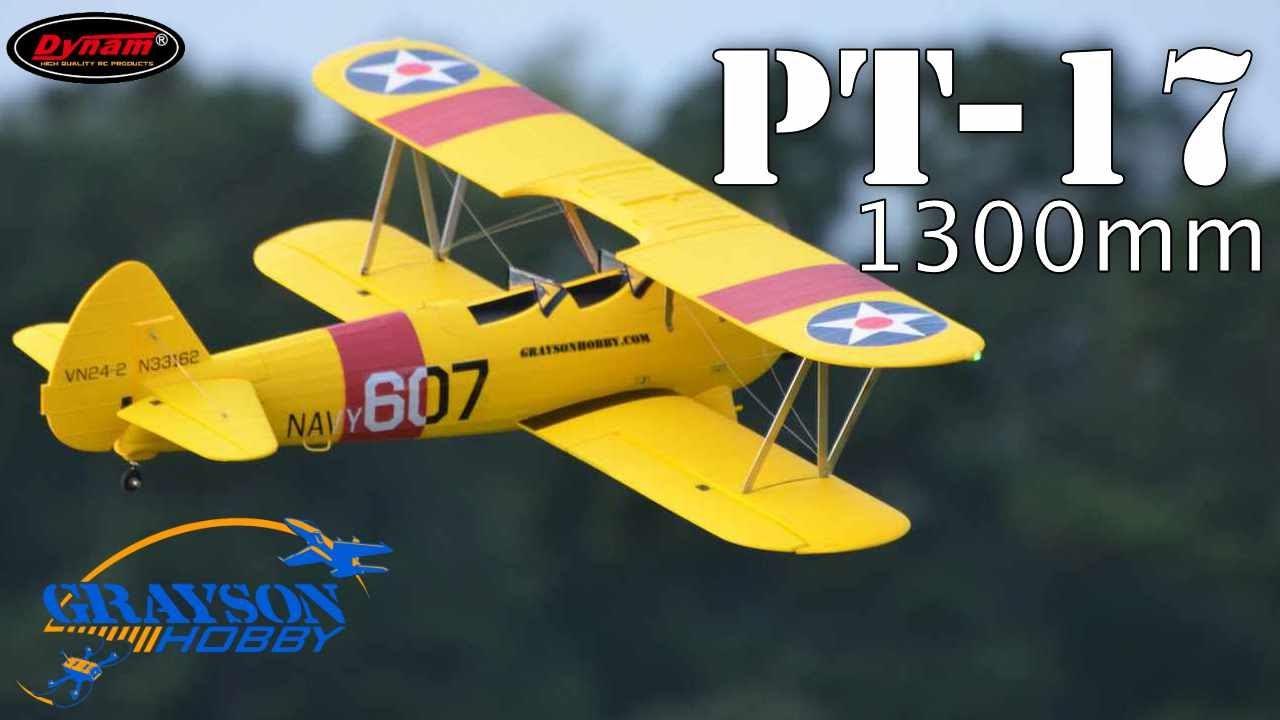 Dynam PT-17 1300mm Radio Control Airplane - A Classic Flyer