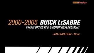 Buick LeSabre Front Brake Pads & Rotors Replacement - 2000-2005 - Make Model Series