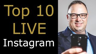 Top 10 Live Instagram August 2017