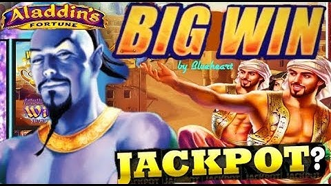 ★ BIGGEST ON YOUTUBE ★  ALADDIN'S FORTUNES 3D slot machine LIVE PLAY MASSIVE BONUS WIN!