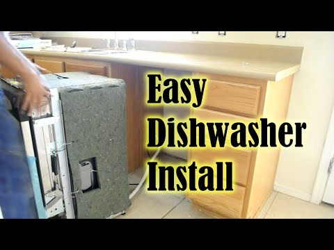 dishwasher how to install a dishwasher in less than 1 hour how to replace a dishwasher youtube. Black Bedroom Furniture Sets. Home Design Ideas