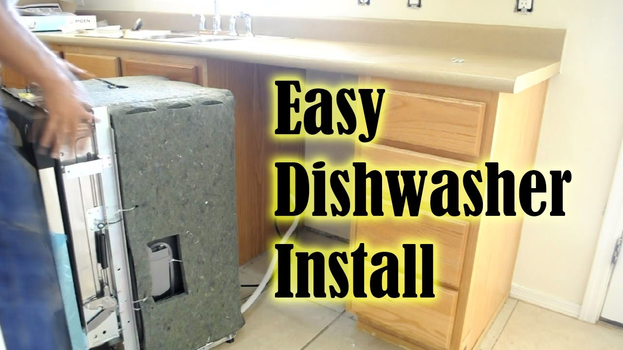 Dishwasher How To Install A In Less Than 1 Hour Replace You