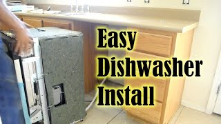 Dishwasher How To Install A Dishwasher in less than 1 hour! How To Replace A Dishwasher