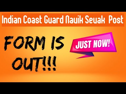 Indian Coast Guard Navik DB Cook, Steward online is out