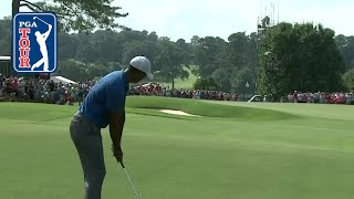 Tiger Woods' approach and putt excite gallery at TOUR Championship 2018