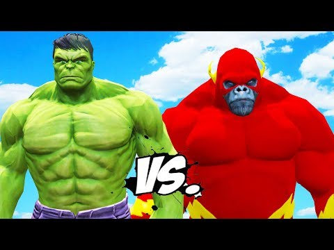 FLASH GORILLA VS HULK - EPIC BATTLE